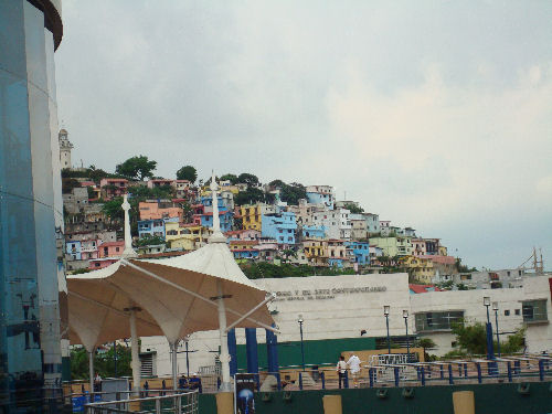 Viejo Guayaquil with Museum of Contemporary Art and IMAX theater in foreground