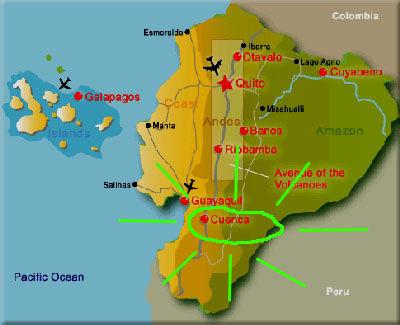 Ecuador show Cuenca highlighted