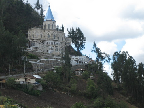 Cathedral built into mountain side