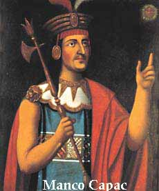 The first Inca king, Maco Capac