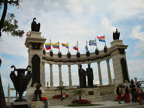 Monument honoring Simon Bolivar who freed Latin America from Spain