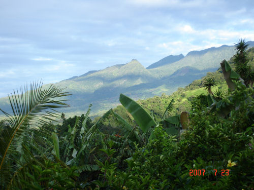 View of Volcan Baru from my terrace