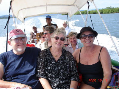 Don & Nancy Huff (and me) in Bocas Del Toro
