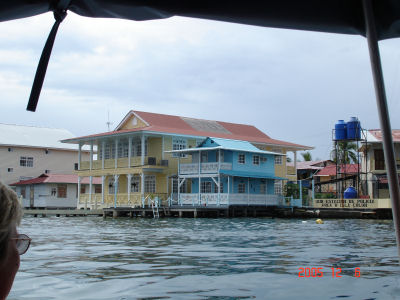 Waterfront buildings in Bocas del Toro
