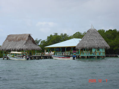 Lunch spot in Bocas del Toro