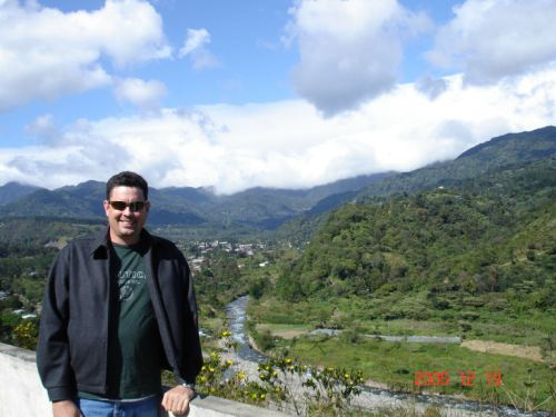 Paul at a place overlooking the valley of Boquete
