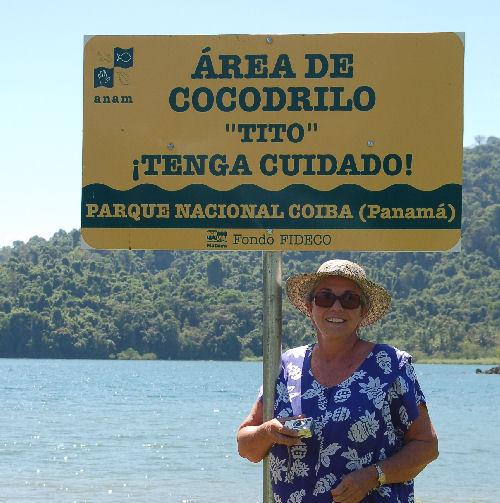 Some beaches aren't for swimming...Cocodillo means Crocodile