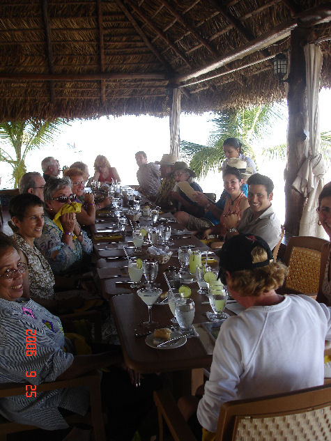 The lunch bunch at Playa Blanca
