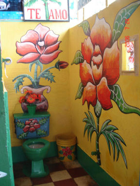 Even the bathrooms are beautiful in the Azuaro