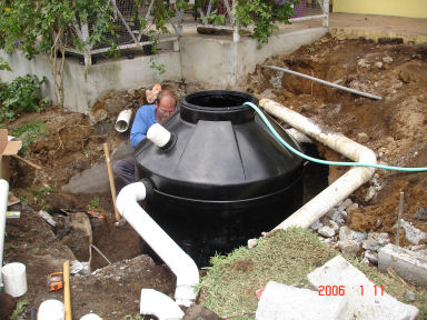 The old septic needed to go....poor Gary!