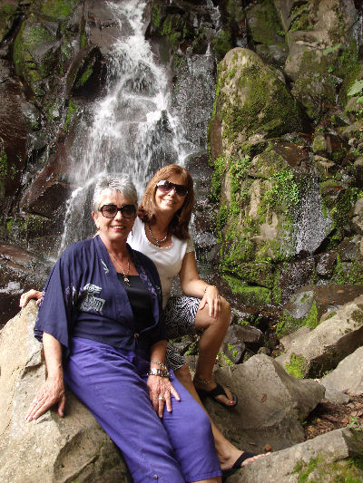 Wanda and me at a waterfall near my house