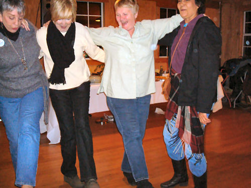 Me, Sharon, Linda and Joan (Judi was taking the photo)