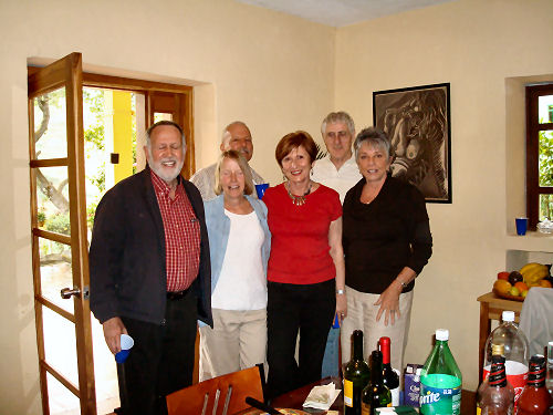 L to R...Bill, Patricia, Christa (one of my favorite new friends), me and in back David and Alan