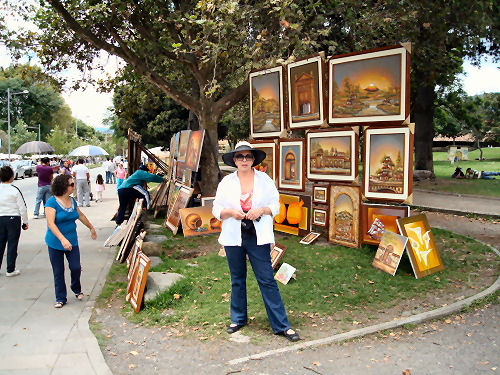 Art show in the park