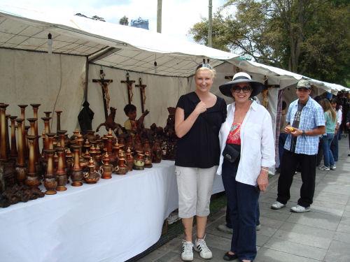 Friend Natalie & me at crafts faire