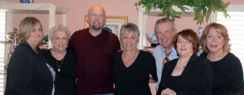 daughter Chris, mother, son Vernon, me, nephew Dan & his wife Paula, niece Toni