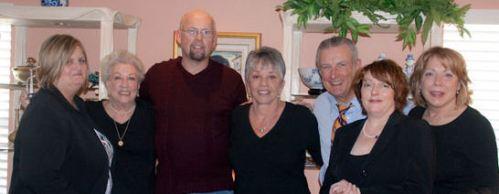 daughter Chris, mother, son Vernon, me, nephew Dan & his wife Paula, niece Toni