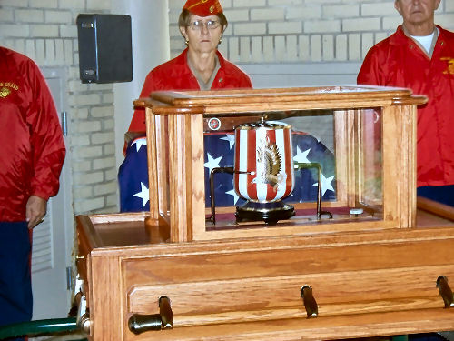 Leon's Urn with Military Guard