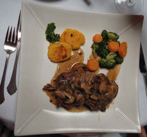 Filet Mignon with Mushroom and Wine Sauce