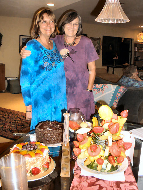 The next night we bbq'd at Judi's house...here she is with Joyce