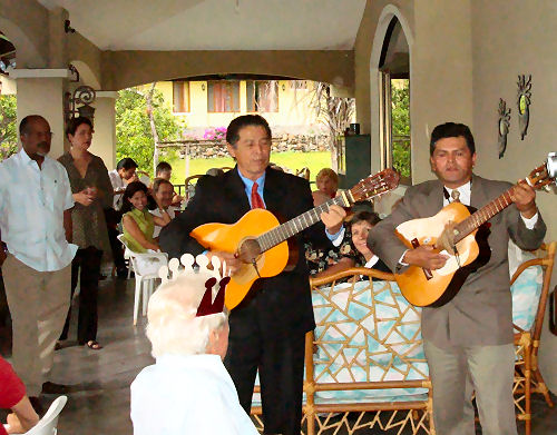 Panamanian guitarists serenaded the birthday boy.....