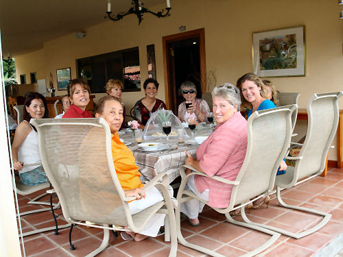 Here's the monthly Ladies Who Do Lunch club ...a group I started 3 years ago, and it's still going strong!