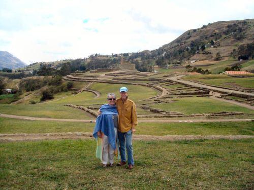 David & me at Inca ruins