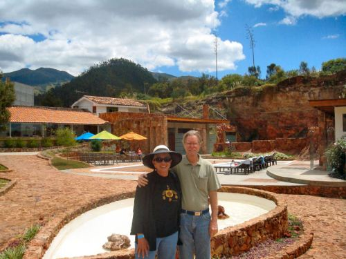 David Ripple & me at the Piedra de Aguas Spa
