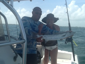 On Charlie's boat I caught this little barracuda