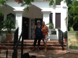 Wanda and me at the Cathedral on Duval Street