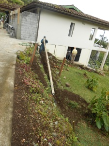 Water management on a mountain in a tropical rain forest requires good drainage…we put in plenty!