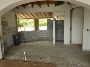 Inside original kitchen extension