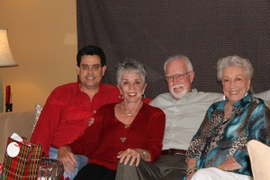 Xmas Day...Jim and me with Paul and mom