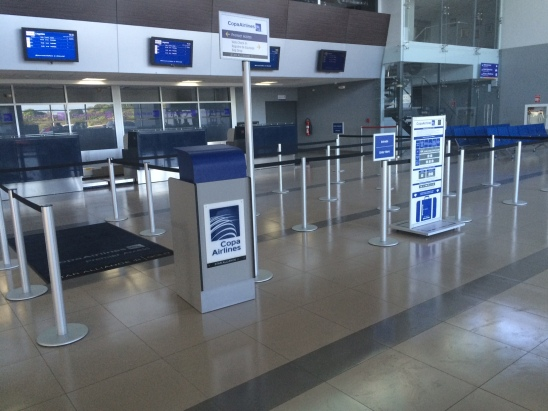 The new COPA counter at David Airport
