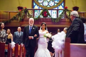 Jim walked her down the aisle...her own father was too ill to attend the wedding