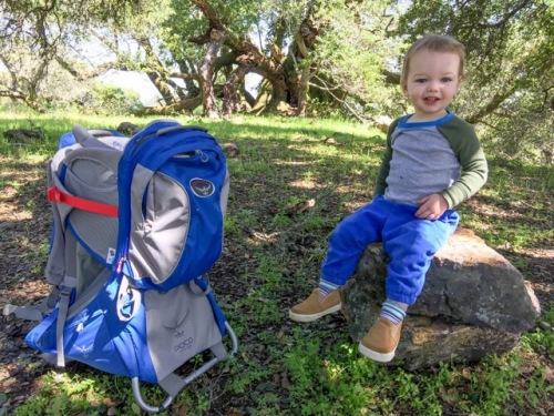 Connor Update...he's getting cuter by the day. 18 months..hiking with dad!