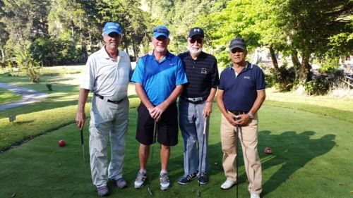 Jim with his foursome in the Club Championship