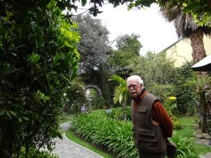 Jim in the gardens of Alcazar