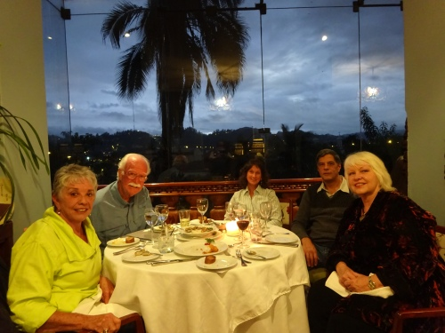 L to R: Me, Jim, Mary Ann, Greg and Cameron at the beautiful old Hotel Victoria