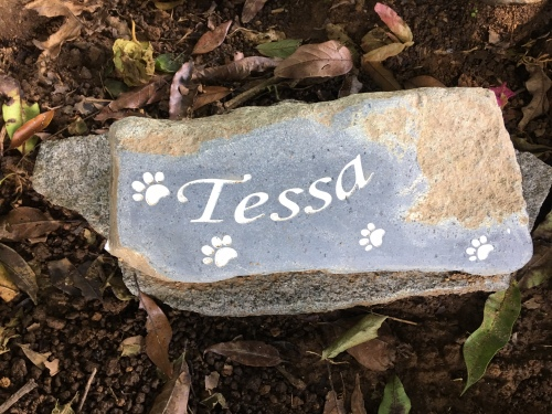 Tessa's little tombstone